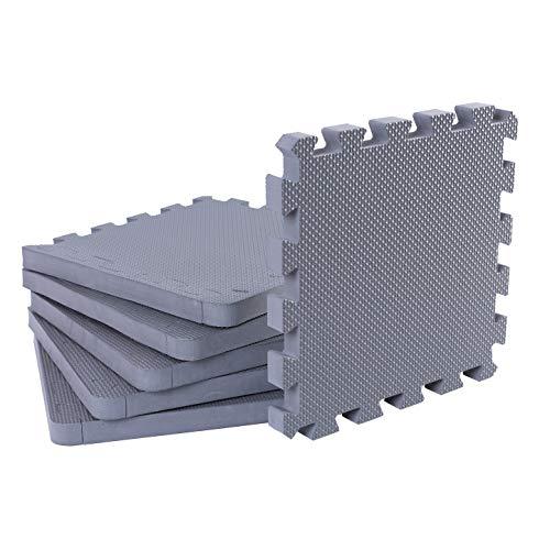 BodenMax Schutzmatten Set für Fitness 18 Stück(1,62m²) 30x30cm 10mm
