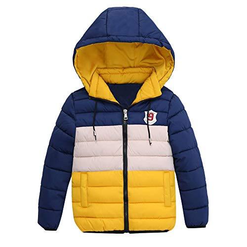 FeiliandaJJ Kinder Mantel Junge,Toddler Winterjacke mit Kapuze Zipper Outwear Jacken Kids Coat Baumwoll Warme...