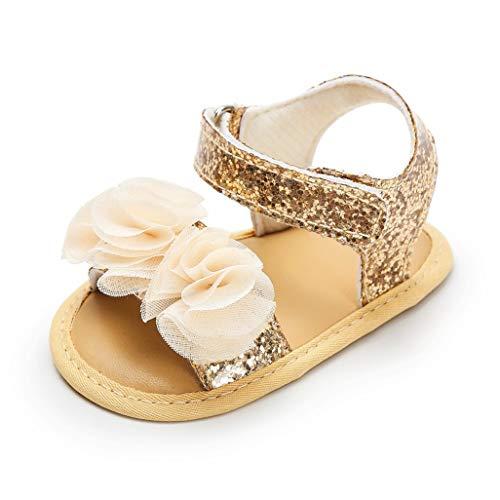 Auxma Baby Mädchen Mode Sommer Sandalen, Baby Prinzessin Schuhe für 0-6 6-12 12-18 Monate (6-12 Monate, A)