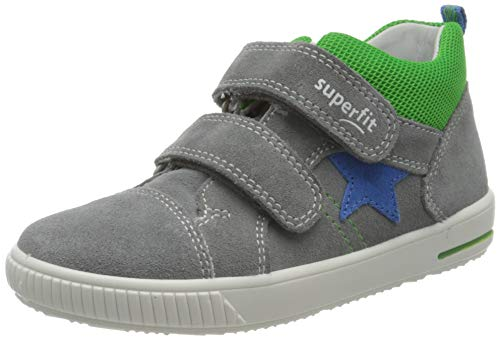 Superfit Baby Jungen MOPPY Sneaker, Grau (Hellgrau/Blau 25), 26 EU