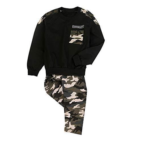 Gyratedream Bekleidungssets Jungen T-Shirt Hosen 2Pcs Outfits Sweatshirt + Sporthose Frühling Herbst...