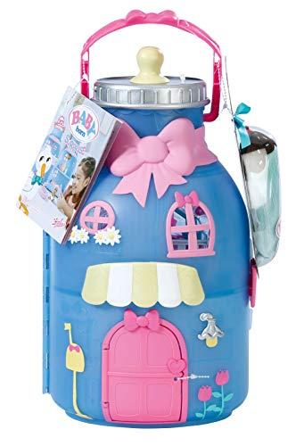Zapf Creation 904145 BABY born Surprise Spielset Flasche - 2-stöckiges Spielhaus mit exklusivem Baby mit...