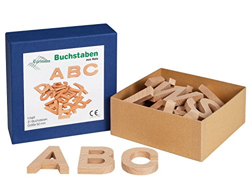Unbekannt Egermann EH2850 - Buchstaben aus Holz, Spiel