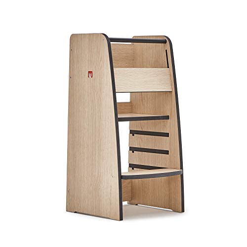 Bianconiglio Kids Trusty Lernturm, Holz, Oak Wood, Standard