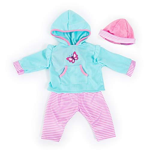 Bayer Design 84675AA Puppenkleidung für 40-46cm Puppen, Hose, Oberteil und Mütze, Set, Outfit mit...