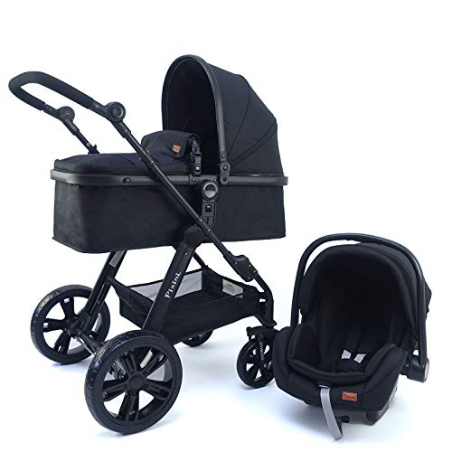 Pixini 3 in 1 Kinderwagen (Arizona Kombikinderwagen 3in1-Set inkl. Babywanne & Buggy & Auto-Babyschale -...