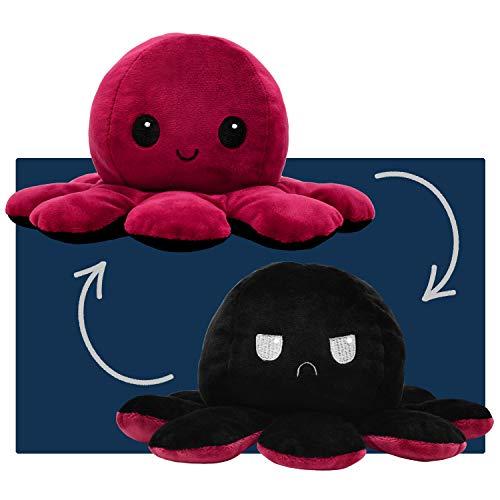 smartpillow Oktopus Kuscheltier - Reversible Octopus Plüschtier - niedliche doppelseitige Flip Octopus...