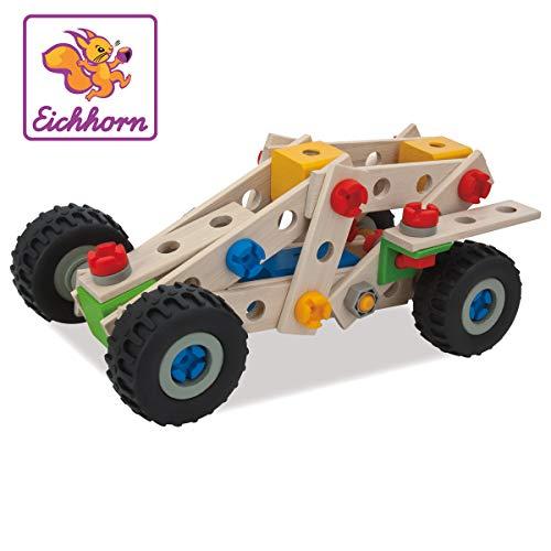 Eichhorn 100039028 - Constructor Quad, 100-tlg., Holz-Konstruktions-Set, 4 verschiedene Modellvarianten...