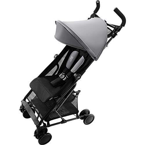 Britax Römer Buggy 6 Monate - 3 Jahre I 15 kg pro Sitz I HOLIDAY DOUBLE I Steel Grey