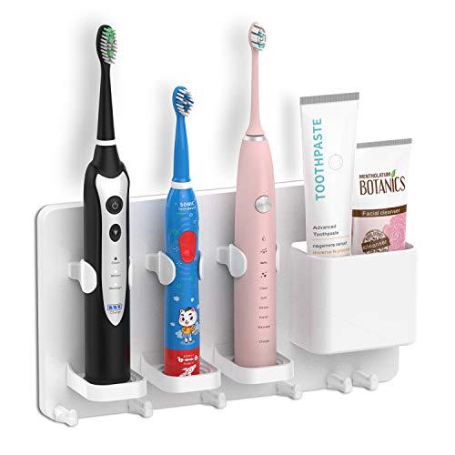 simpletome Zahnbürstenhalter Wandmontage elektrische Zahnbürste Einstellbarer Zahnpasta-Organizer...