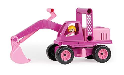 Lena 04102 - Prinzessin von Hohenzollern Bagger, rosa / pink, ca. 35 cm, Spielfahrzeug für Kinder ab 2 Jahre,...