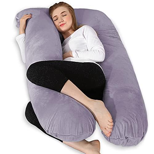 Chilling Home Schwangerschaftskissen U Form Seitenschläferkissen mit Bezug U Kissen Stillkissen groß...