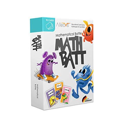 ALLEOVS® Math-Batt Mathematik - Lernspiel für Kinder ab 7 Jahren - Einmaleins Spiel mit 90 Lernkarten -...