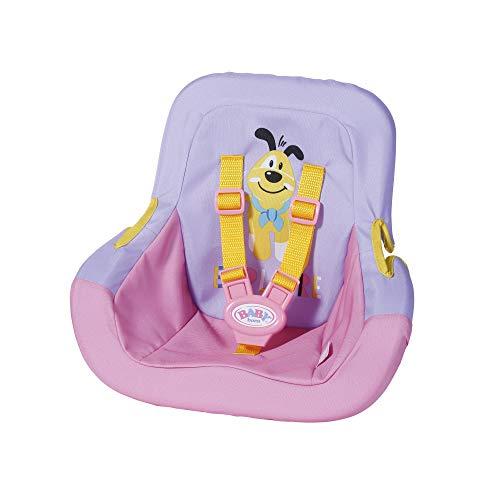 BABY Born 828830 Autositz für 43cm Puppe - mit Sicherheitsgurten - leicht für Kleine Hände, Kreatives Spiel...