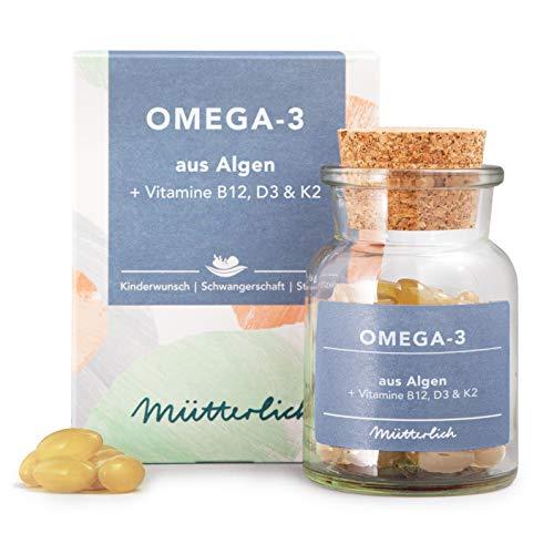 mütterlich Kinderwunsch, Schwangerschaft & Stillzeit Omega-3 | Die natürlichste Alternative mit DHA & EPA...