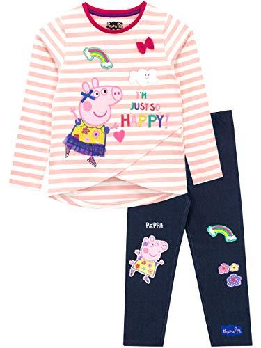 Peppa Wutz Mädchen Peppa Pig T-Shirt und Leggings Mehrfarbig, Gr.- 98 (Herstellergröße: 2 - 3 Jahre)