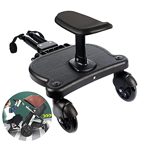 Universelles 2-in-1-Buggy-Board mit abnehmbarem Sitz und stehender Plattform. Kinderwagen-Segelflugbrett für...