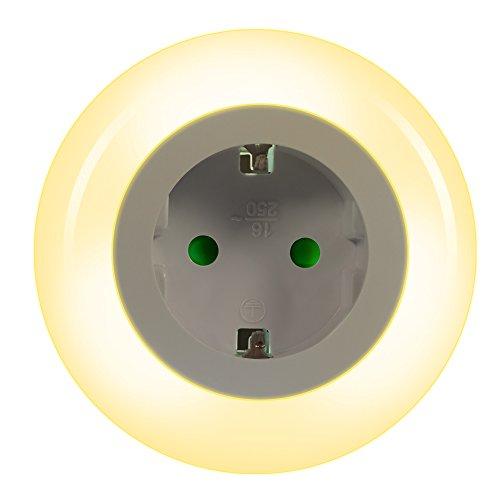 Emotionlite LED Steckdose Nachtlicht mit Dämmerungssensor Nachtlampe Kinder Schützen Steckdose...