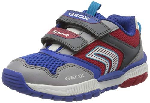 Geox Jungen J Tuono Boy A Sneaker, Grau (Grey/Red C0051), 31 EU