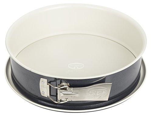 Dr. Oetker Spring-/Kuchen-/Backform, Ø 28 cm Back-Trend, mit Flachboden, runde, aus Stahl mit keramisch...