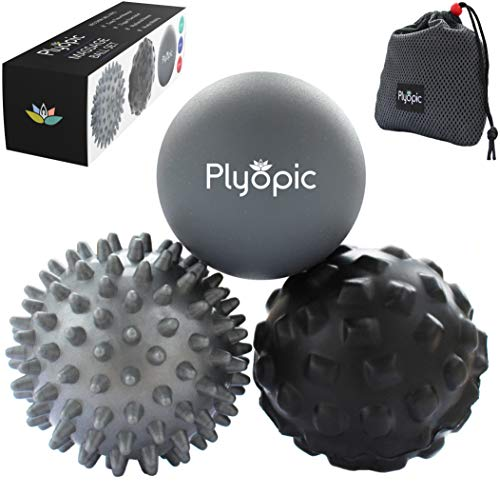 Plyopic Massageball Set – Inklusive Faszienball mit Noppen, Igelball und Massageballe. Myofasziale...