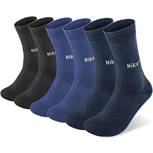Amazon-Marke: Hikaro Socken Herren Damen Baumwolle Trekkingsocken Laufsocken Atmungsaktiv Warm Rutschfest 6...