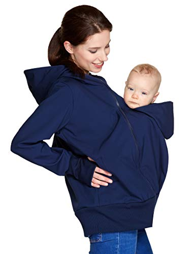 Be! Mama wasserdichte All-Weather 3in1 - Tragejacke & Umstandsjacke & Damenjacke in einem aus Softshell...