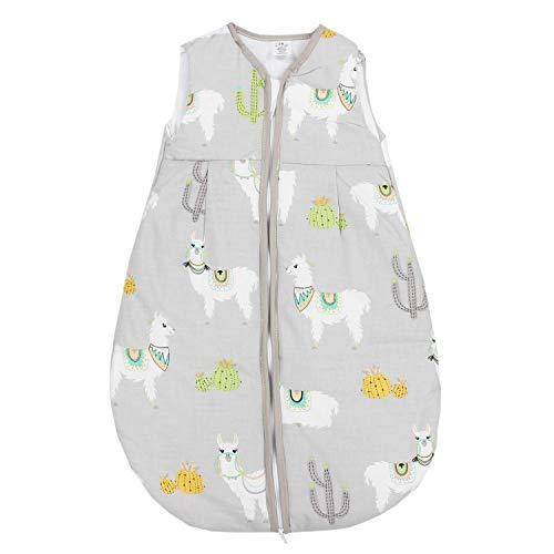 TupTam Baby Schlafsack Wattiert ohne Ärmel ANK001, Farbe: Lama Grau, Größe: 80-86