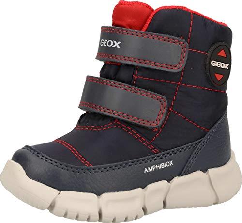 Geox Baby-Jungen B FLEXYPER Boy B ABX Snow Boot, Blue (Navy/Red), 24 EU