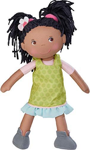 HABA 304576 - Puppe Cari, 30 cm, Weich- und Stoffpuppe für Kinder ab 18 Monaten, mit ausziehbarer Kleidung...