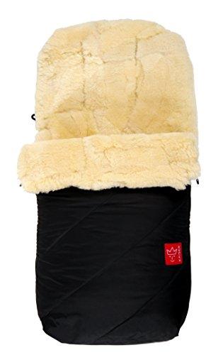 Kaiser Fußsack 'Paat', echtes Lammfell Medizin (keine Lammwolle), schwarz