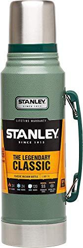 Stanley Legendary Classic Vakuum-Thermoskanne 1L, Hammertone Green, 18/8 Edelstahl Trinkflasche 1L,...