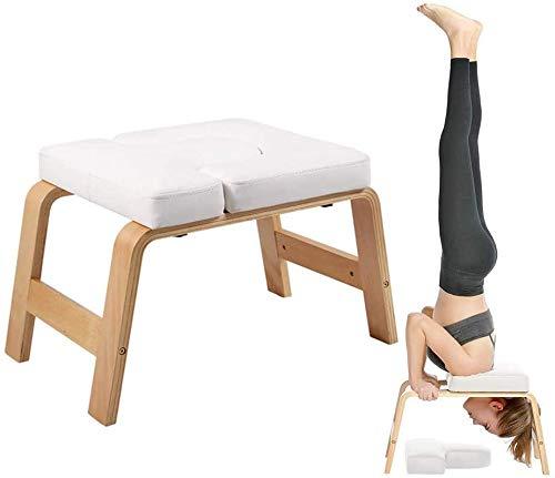 Yoga Kopfstandhocker,Hocker Head-Stand Für Yoga-Starter-Sets,Stuhl Decompression in Neck Mit Holz Und...