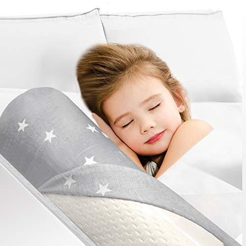 HBselect Bettgitter Memory Schaumgummi mit abziebarer Decke für Kleinkind Baby Kinder voll weich Bettrand...
