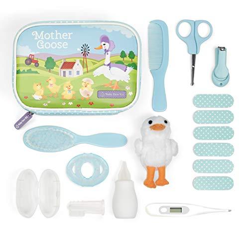 Yellodoor Baby Pflegeset Neugeborene – 15 Teile, ideale Erstausstattung für Eltern, mit Kamm, Bürste,...