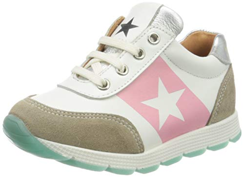 Bisgaard Mädchen Vitus Sneaker, Silber (White/Silver 2304), 28 EU