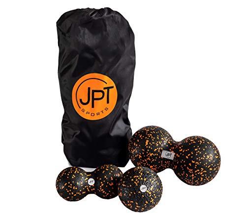 JPTsports® Faszienball-Set inkl. PDF Anleitung & Tragetasche   Massageball-Set aus Einzelball (10cm) &...