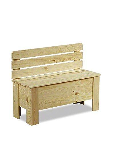 MODO24 Truhe Holztruhe Holzbank Truhenbank Sitzbank für Kinder Spielkiste B-12 Serie B (B-12, unbehandelt)