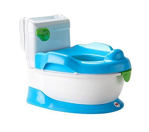Fisher-Price FRG78 - Lernspaß Töpfchen Toilettentrainer mit Griffen und, ab nehmbarem Sitzaufsatz inkl....