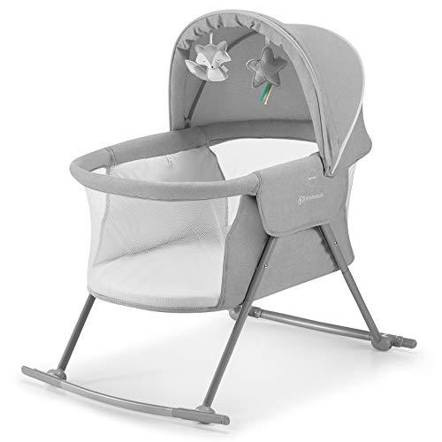 Kinderkraft Kinderbett 3 in 1 LOVI, Kinderreisebett, Stubenwagen, Babywiege, Baby Wippe, Zusammenklappbar,...