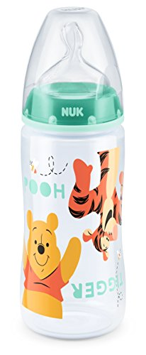 NUK 10216199 Disney Winnie First Choice Plus Flasche aus PP 300 ml, kiefergerechter Silikon-Trinksauger,BPA...