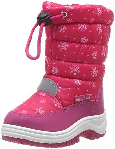 Playshoes Snow Boots Snowflakes Unisex-Kinder Schneestiefel, Pink (Pink 18), 26/27 EU