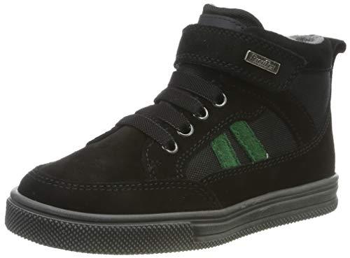 Richter Kinderschuhe Jungen Ola Hohe Sneaker, Schwarz (Black/Turtle 9901), 25 EU