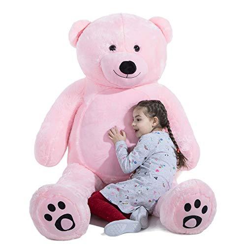 VERCART Riesiger Teddybär Kuschelig Kuscheltiere Plüschtier Rosa XXXL