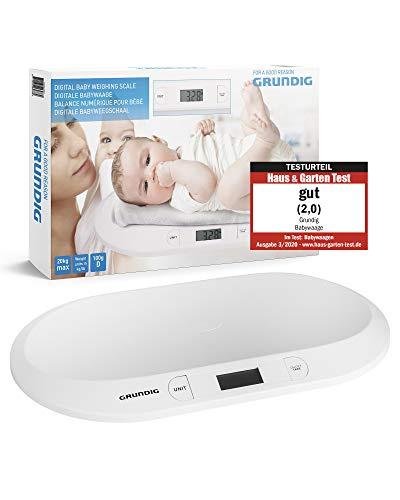 GRUNDIG Babywaage | Digitale Kinderwaage bis 20Kg | digitale LED Anzeige | Gewichtskontrolle ab Geburt | LCD...