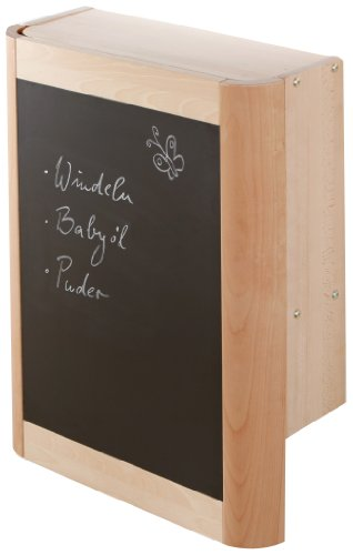Geuther Wand-Wickelregal Wanda, inkl. Wickelmulde, natur, schmetterlinge
