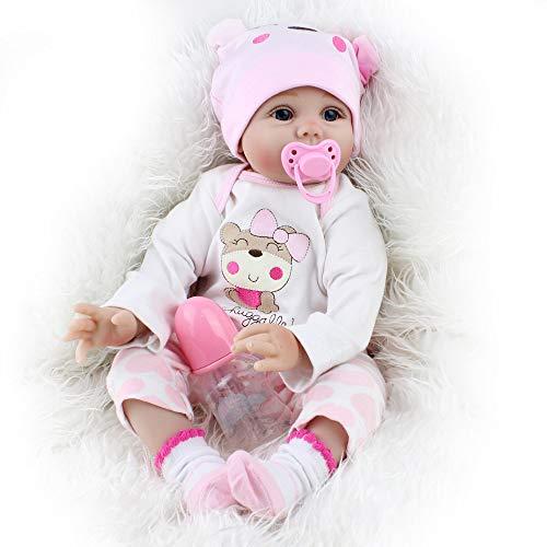 OUBL 22Zoll 55 cm günstig Kinder Silikon Vinyl lebensecht doll mädchen Magnetismus Puppe Reborn Babys...