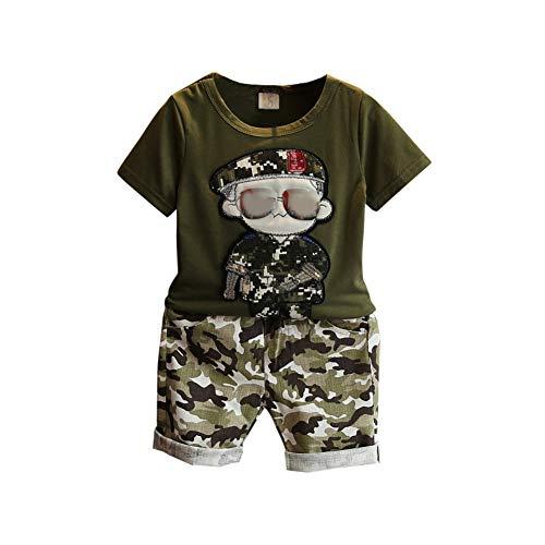 Gyratedream Baby Sommer Kleidung Junge T-Shirt Kurzarm Tops + Kurze Hosen Camouflage Shorts 2Pcs Outfits für...