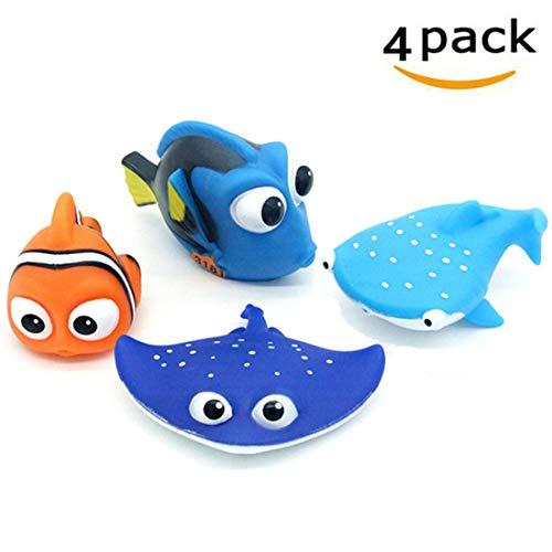 ALLCELE Baby Badespielzeug, Finden Dory Nemo Spritzen Spielzeug für Baby & Kleinkind Spielzeug Dusche und...