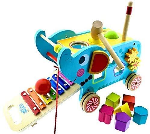 RB&G Activity Elephant Hammerspiel, Klopfbank, aus Holz, ab 12 Monate Lernspielzeug Holzspielzeug Spielzeug ab...
